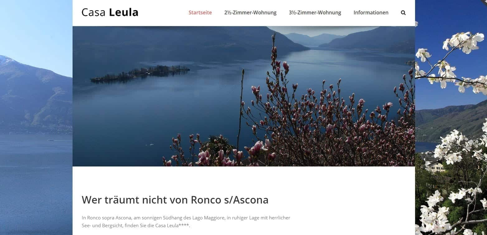 Recently finished Website – Casa Leula